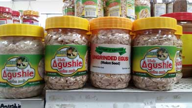 Agushie seed: whole, grounded, ungrinded egusi. Shop Charlotte Market International today - Charlotte's best African grocer. West Africa and Caribbean specialty products - OPEN DAILY! Char, NC