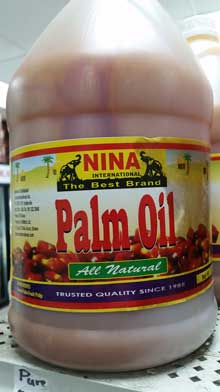 Nina gal jug Pure Palm Oil. Shop Charlotte Market International today - Charlotte's best African grocer. West Africa and Caribbean specialty products - OPEN DAILY! Char, NC