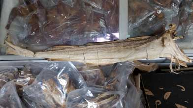 Huge, whole stockfish. Shop Charlotte Market International today - Charlotte's best African grocer. West Africa and Caribbean specialty products - OPEN DAILY! Char, NC. Stock Fish